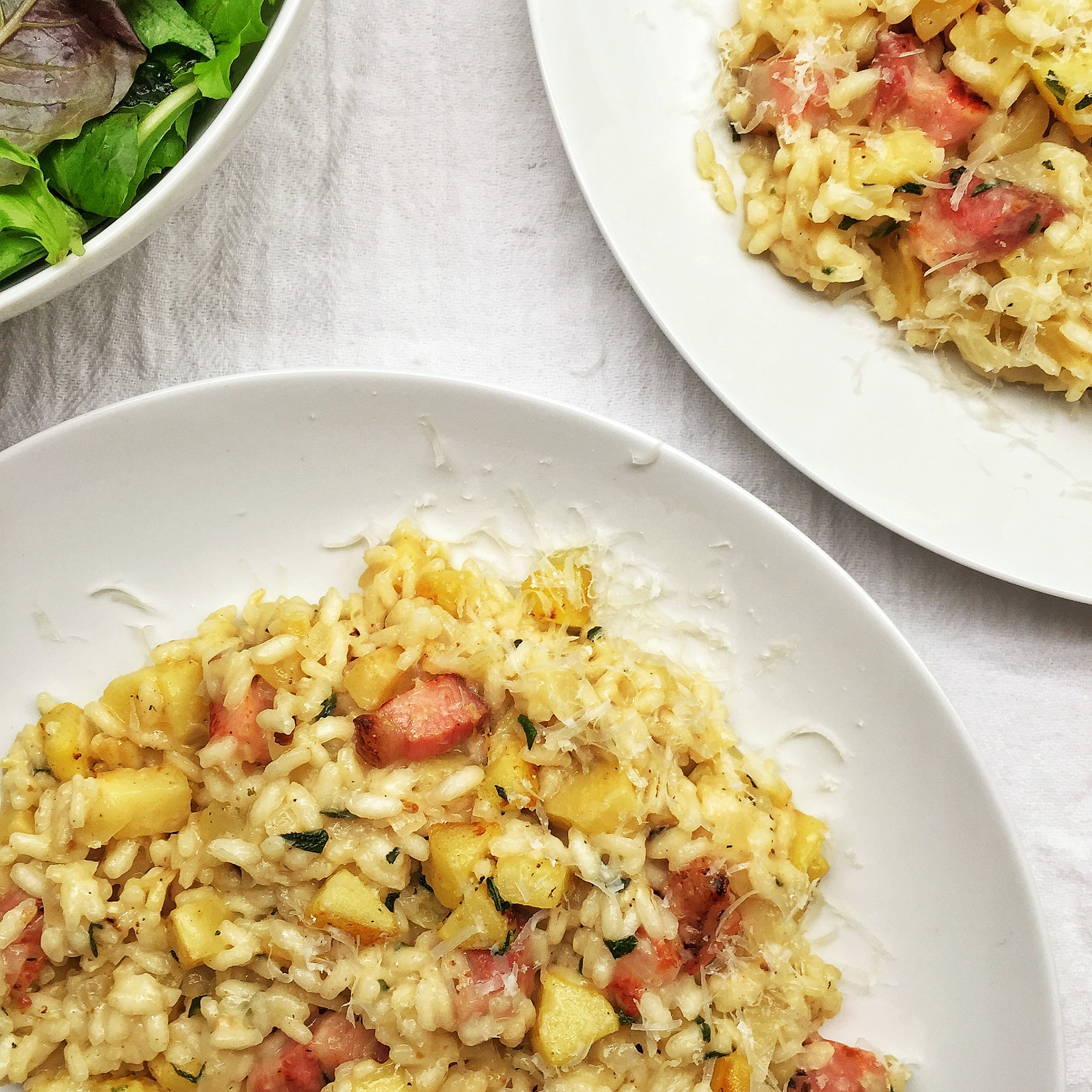 parsnip risotto with pancetta • my day in food